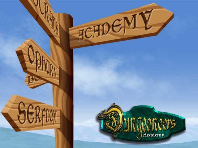Dungeoneers Academy: Signpost slide