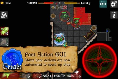 Dungeoneers Academy: Fast Action GUI - Many base actions are now automated to speed up play.