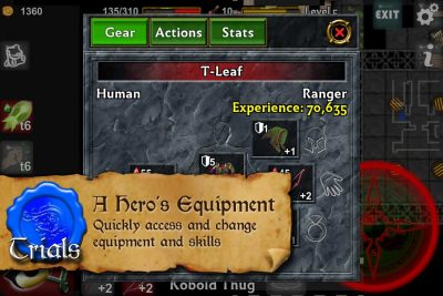 Dungeoneers Academy: A Hero's Equipment - Quickly access and change equipment and skills