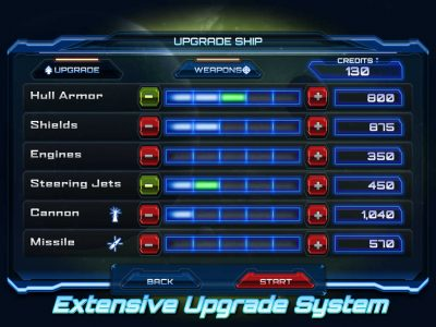 Nova Wing: iOS - Extensive Upgrade System