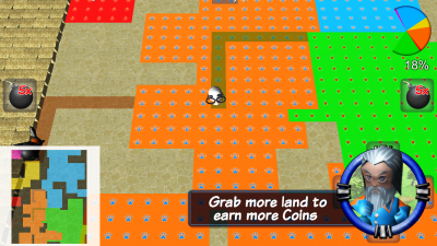 Grab more land to earn more Coins