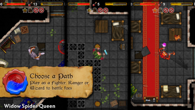 Dungeoneers Academy v4.0: Play as a Fighter, Ranger or Wizard to battle foes.
