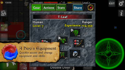 Dungeoneers Academy v4.0: Quickly access and change equipment and skills